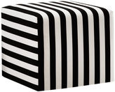 Skyline Furniture Baker Ottoman, Black/White Stripe
