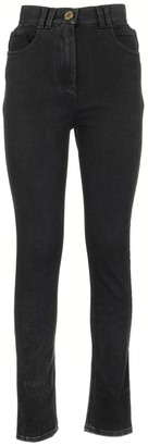 Balmain High-rise Jeans Skinny Black Trousers