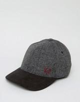 Fred Perry Herringbone Wool Baseball Cap