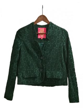 Manoush Green Wool Jacket for Women