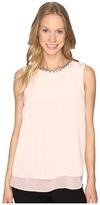 Calvin Klein Sleeveless Jewel Neck Top