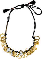 Dries Van Noten Crystal & Hardware Necklace