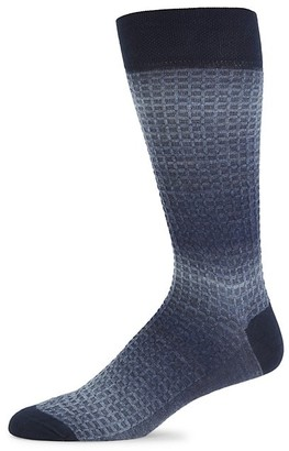 Marcoliani Milano Shaded Waffle-Knit Socks
