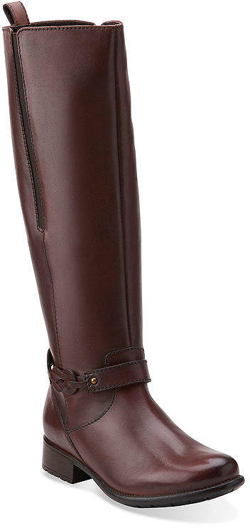 Clarks Plaza Market Comfort Riding Boots