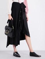 J.W.Anderson Frilled asymmetric silk skirt