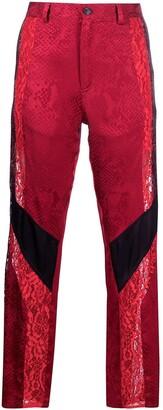 Koché Panelled Straight-Leg Trousers