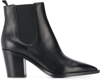 Gianvito Rossi 75mm Elasticated Pointed Toe Boots