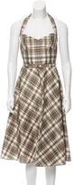 Michael Kors Silk Plaid Dress