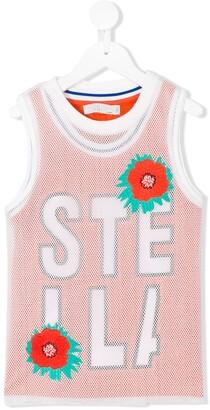 Stella McCartney mesh logo tank top set