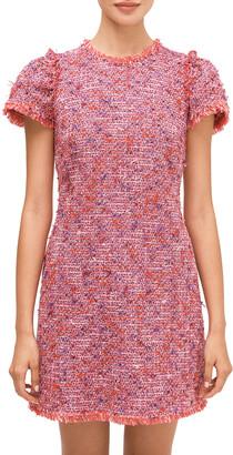 Kate Spade Flutter Sleeve Tweed Dress