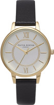 Olivia Burton OB14WD04 Wonderland gold-plated and leather watch