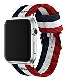 HP95(TM) Colorful Fine Woven Nylon Adjustable Replacement Band Sport Strap for Apple Watch 38mm (B)