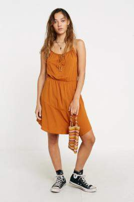 Free People Skate It Up Mini Dress - orange XS at Urban Outfitters