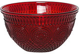 Southern Living Holiday Sunflower Embossed Glass Salad Bowl