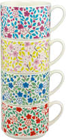 Cath Kidston Littlemore Flowers Set of 4 Stackable Mugs