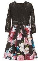 Teeze Me Girls Big Girls 7-16 Lace/Floral Fit-And-Flare Dress