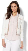 New York & Co. 7th Avenue Design Studio - Lurex-Trim Sweater Jacket