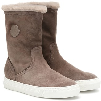 Moncler Arabelle suede ankle boots