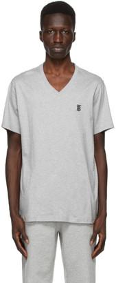 Burberry Grey Marlet V-Neck T-Shirt