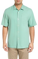 Tommy Bahama Men's Big & Tall 'Catalina Twill' Short Sleeve Silk Camp Shirt