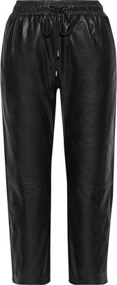Walter Baker Minh Cropped Leather Track Pants
