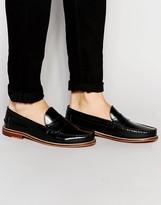 Ben Sherman Bouy Penny Loafers In Black