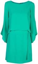 Halston slit sleeve dress