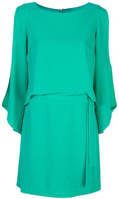 Halston Slit Sleeve Dress