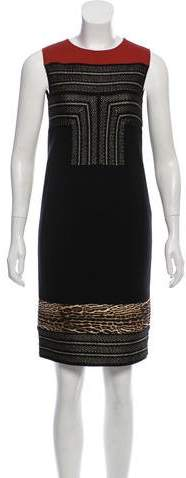 Giambattista Valli Patterned Wool Dress