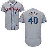 Jackson 40 Bartolo Colon Jersey Baseball Jerseys Mens Grey Size XXL