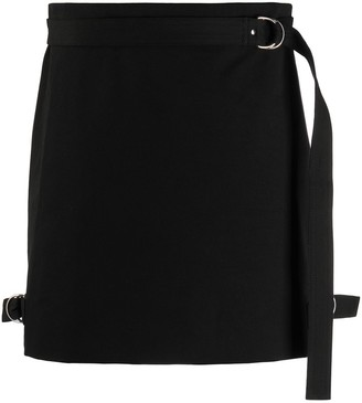 Helmut Lang Side-Buckle Mini Skirt