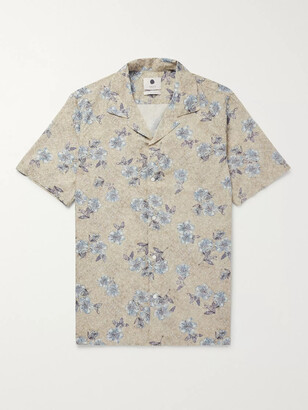 NN07 Miyagi Camp-Collar Printed Cotton Shirt