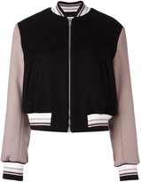 MSGM embroidered cropped bomber jacket