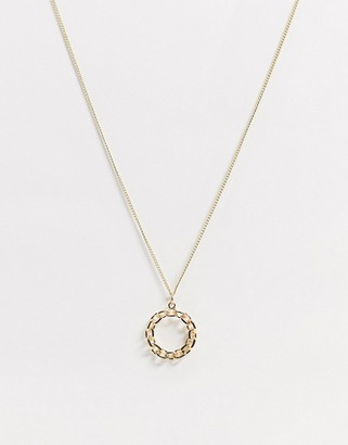 NY:LON long pendant necklace in gold