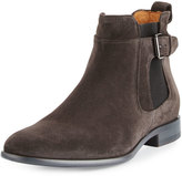 Vince Aston Suede Buckled Boot, Graphite