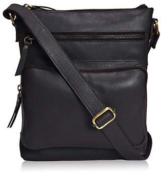 Mainecoon Genuine Leather Multi-Pocket Crossbody Purse Bag