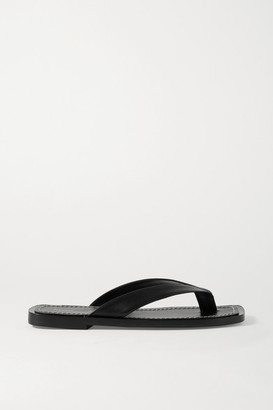 Proenza Schouler Leather Flip Flops - Black