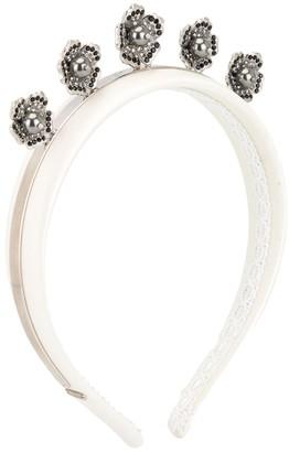 Dolce & Gabbana Crystal Floral Embellished Headband