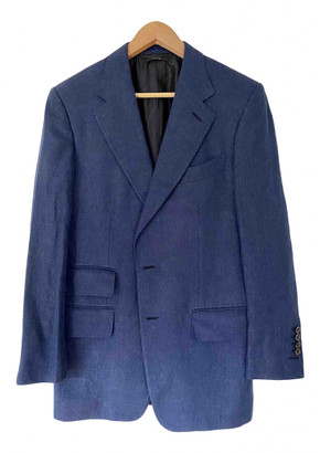 Tom Ford Blue Linen Suits
