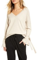 Treasure & Bond Women's Tie Bell Sleeve Top