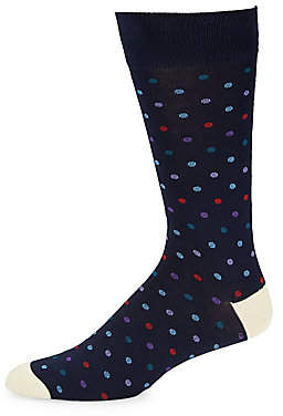 Saks Fifth Avenue Multicolor Dot Socks
