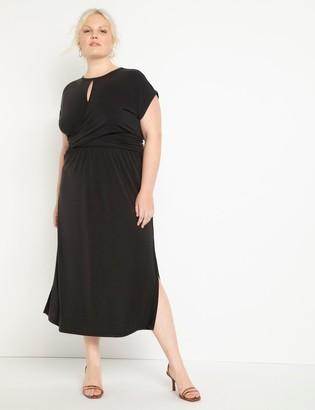 ELOQUII Cinched Bodice Dress