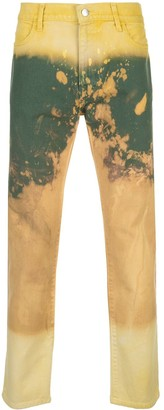 424 Paint-Effect Straight Jeans