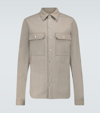 Rick Owens Outhershirt wool shirt
