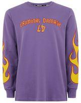 Criminal Damage Purple 'Flames' Top