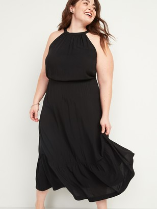 Old Navy Waist-Defined Sleeveless Plus-Size Maxi Dress
