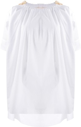 Marni Drawstring Neck Blouse