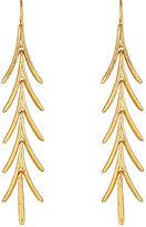 Kenneth Jay Lane WOMEN'S LONG LEAF-DROP EARRINGS-GOLD