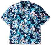 Cubavera Men's Big and Tall Short-Sleeve allover Tropical Print