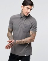 Pretty Green Polo Shirt With Badges In Grey